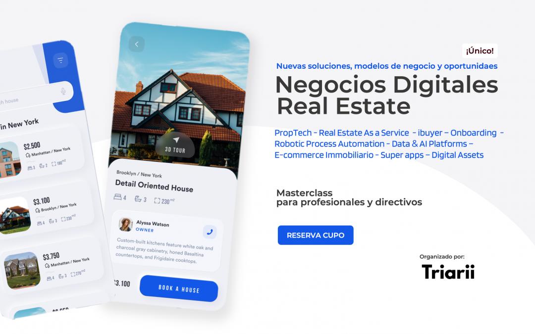Masterclass sobre negocios digitales inmobiliarios Proptech